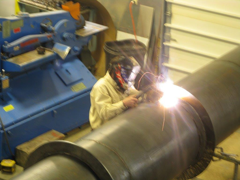 Welding Smoke Stack for STC